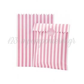 Τσάντα Δώρου Ροζ Ριγέ - ΚΩΔ:MIX-BAG-PK-JP