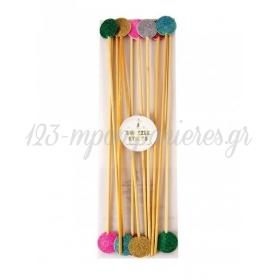Πολύχρωμα Sticks Ανάδευσης Ποτών - ΚΩΔ:45-1959-JP
