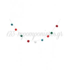 Γιρλάντα Μίνι Πολύχρωμα Pom Pom - ΚΩΔ:45-2334-JP