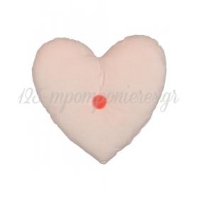 Βελούδινο Μαξιλάρι Καρδιά - ΚΩΔ:157879-JP