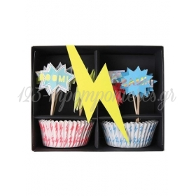 Cupcake Kit Super Hero - ΚΩΔ:146908-JP