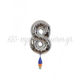 Μεταλλικό Μπαλόνι Νο8 - ΚΩΔ:154531-JP