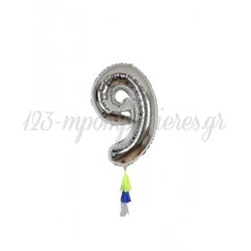 Μεταλλικό Μπαλόνι Νο9 - ΚΩΔ:154540-JP