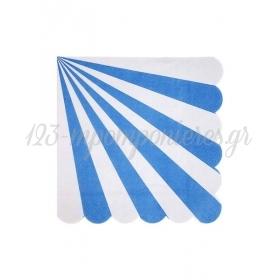 Χαρτοπετσέτες Μεγάλες Ριγέ Μπλε - ΚΩΔ:157105-JP