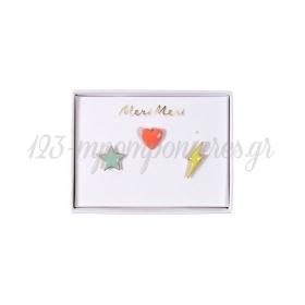 Καρφίτσες Αστέρι, Καρδιά & Αστραπή - ΚΩΔ:156592-JP