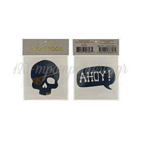Τατουάζ Skull Ahoy - ΚΩΔ:126415-JP