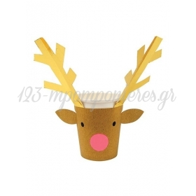 Ποτήρια Χάρτινα Reindeer - ΚΩΔ:162505-JP