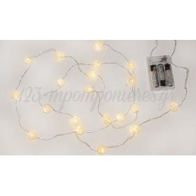 ΓΙΡΛΑΝΤΑ 2m ΜΕ 20 ΜΠΑΛΙΤΣΕΣ LED ΜΠΑΤΑΡΙΑΣ  - ΚΩΔ:519565