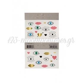Eyes, Lips, Hearts Τατουάζ 2τμχ - ΚΩΔ:143299-JP