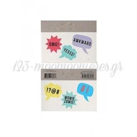 Speech Bubble Τατουάζ 2τμχ - ΚΩΔ:45-2271-JP