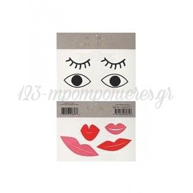 Eyes & Lips Τατουάζ 2τμχ - ΚΩΔ:145891-JP