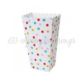 Θήκη Popcorn Πουά 8τμχ - ΚΩΔ:45-2317-JP