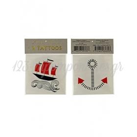 Boat & Anchor Τατουάζ 2τμχ - ΚΩΔ:126163-JP