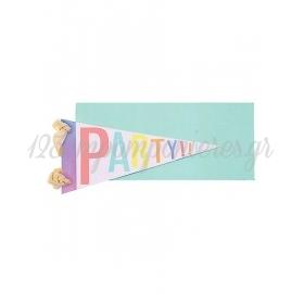Σημαιάκι Party Ευχετήρια Κάρτα - ΚΩΔ:15-3522H-JP