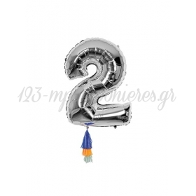 Μεταλλικό Μπαλόνι Νο2 - ΚΩΔ:154477-JP