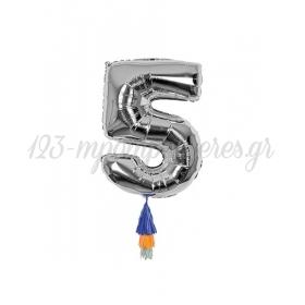Μεταλλικό Μπαλόνι Νο5 - ΚΩΔ:154504-JP