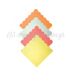 Χαρτοπετσέτες Μεγάλες νέον χρώματα - ΚΩΔ:158374-JP