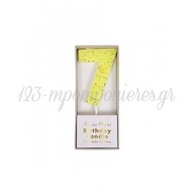 Κεράκι Νο 7 Κίτρινο - ΚΩΔ:158446-JP