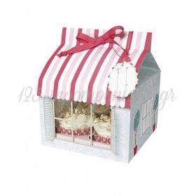 Cupcake box σπιτάκι - ΚΩΔ:45-0213-JP