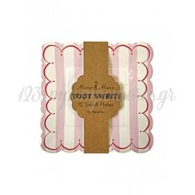 Πιάτο γλυκού ριγέ Toot Sweet - ΚΩΔ:114040-JP