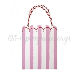 Τσάντα δώρου ριγέ ροζ Toot Sweet - ΚΩΔ:114148-JP