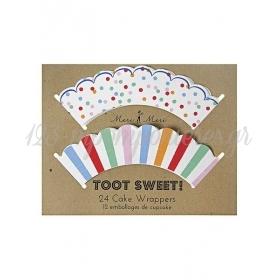 Cupcake wrappers Toot Sweet - ΚΩΔ:45-0873-JP