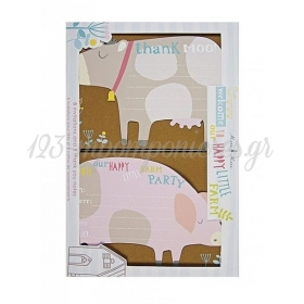 Προσκλητήρια & ευχαρ.κάρτες Happy Little Farm - ΚΩΔ:45-0963-JP