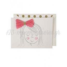 Girl's Bow Card - ΚΩΔ:132544-JP