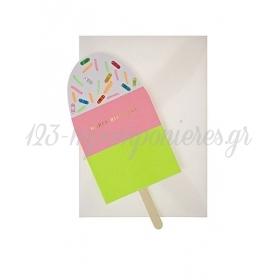 Neon Ice Cream Card - ΚΩΔ:134182-JP