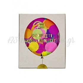Multi color Confetti Balloon Kit (8τεμ) - ΚΩΔ:133012-JP