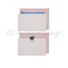 Cat & Dog κάρτες & φάκελοι 6τμχ - ΚΩΔ:14-0045-JP