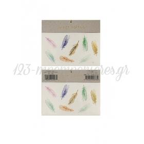 Multi Feathers Τατουάζ 2τμχ - ΚΩΔ:134866-JP
