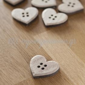 Ξυλινα Κουμπια Καρδια - ΚΩΔ:S0736-Pr