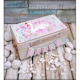 ΚΟΥΤΙ ΕΥΧΩΝ ΜΕ ΚΥΚΝΟ SWAN PRINCESS - ΚΩΔ: SWAN-BOX-BM