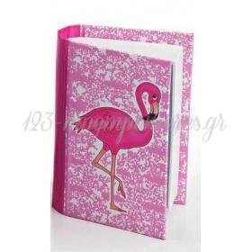 Κουτακι Βιβλιο Ροζ Φλαμινγκο- ΚΩΔ:207-040D-Mpu