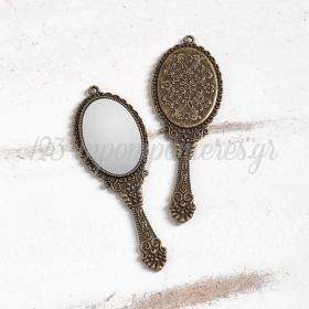 Μεταλλικος Κρεμαστος Διακοσμητικος Καθρεπτης - ΚΩΔ:1506-Pr