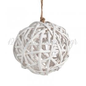 Διακοσμητικη Κρεμαστη Στρογγυλη Μπαλα Μπαμπου - ΚΩΔ:17125-L-Pr