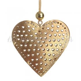 Μεταλλικη Κρεμαστη Καρδια - ΚΩΔ:17974-Pr