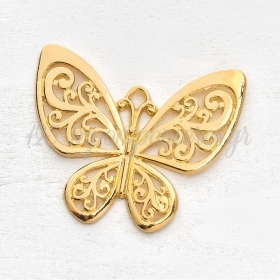 Μεταλλικη Κρεμαστη Διακοσμητικη Πεταλουδα - ΚΩΔ:3451-G-Pr