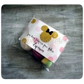 Μπομπονιέρα Βάπτισης Ζαχαρωτά με θεματική εκτύπωση  - Minnie Mouse - Κωδ:MPO-1002