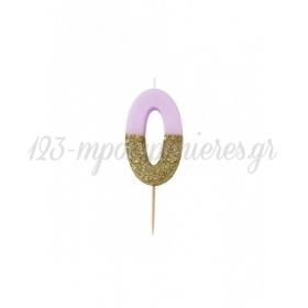 Κεράκι γενεθλίων για τούρτα Νο 0 We ♥ Birthdays - ΚΩΔ:BDAY-CANDLE-0-JP