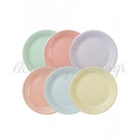 Χάρτινα Πιάτα φαγητού Παστέλ We ♥ Pastels - ΚΩΔ:PASTEL-PLATE-MUL-JP
