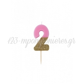 Κεράκι γενεθλίων για τούρτα Νο 2 We ♥ Birthdays - ΚΩΔ:BDAY-CANDLE-2-JP