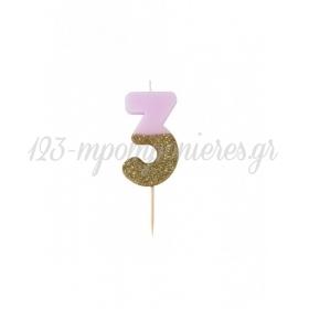 Κεράκι γενεθλίων για τούρτα Νο 3 We ♥ Birthdays - ΚΩΔ:BDAY-CANDLE-3-JP