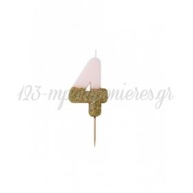 Κεράκι γενεθλίων για τούρτα Νο 4 We ♥ Birthdays - ΚΩΔ:BDAY-CANDLE-4-JP