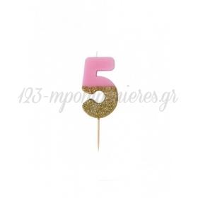 Κεράκι γενεθλίων για τούρτα Νο 5 We ♥ Birthdays - ΚΩΔ:BDAY-CANDLE-5-JP