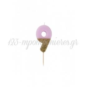 Κεράκι γενεθλίων για τούρτα Νο 9 We ♥ Birthdays - ΚΩΔ:BDAY-CANDLE-9-JP