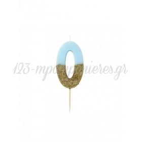 Κεράκι γενεθλίων Νο 0 We ♥ Birthdays Boy - ΚΩΔ:BDAY-CANDLE-BLUE-0-JP