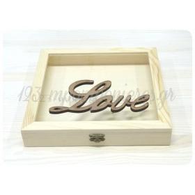 ΣΤΕΦΑΝΟΘΗΚΗ ΜΕ ΞΥΛΙΝΟ ΔΙΑΚΟΣΜΗΤΙΚΟ LOVE - ΚΩΔ:STF3-123