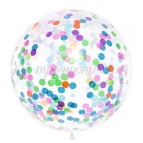 Διαφανα Μπαλονια 36΄΄ Με Πολυχρωμα Κομφετι – ΚΩΔ.:Bk36-1-000-Bb